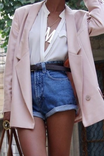 Best high waisted short denim outfits style 32