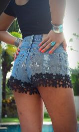 Best high waisted short denim outfits style 34