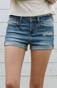 Best high waisted short denim outfits style 39