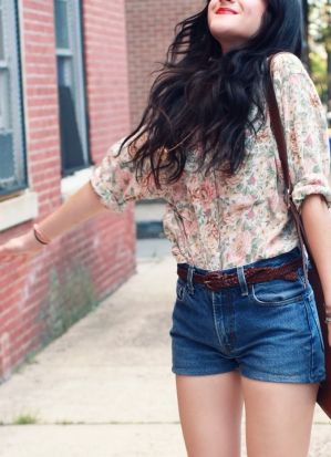 Best high waisted short denim outfits style 70