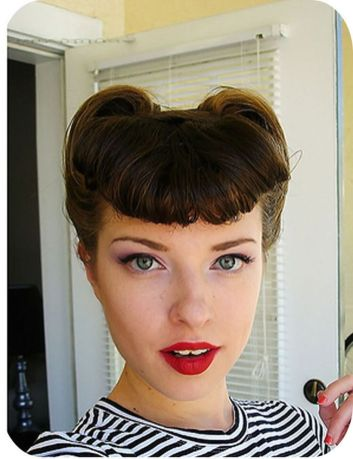 Breathtaking vintage rockabilly hairstyle ideas 56