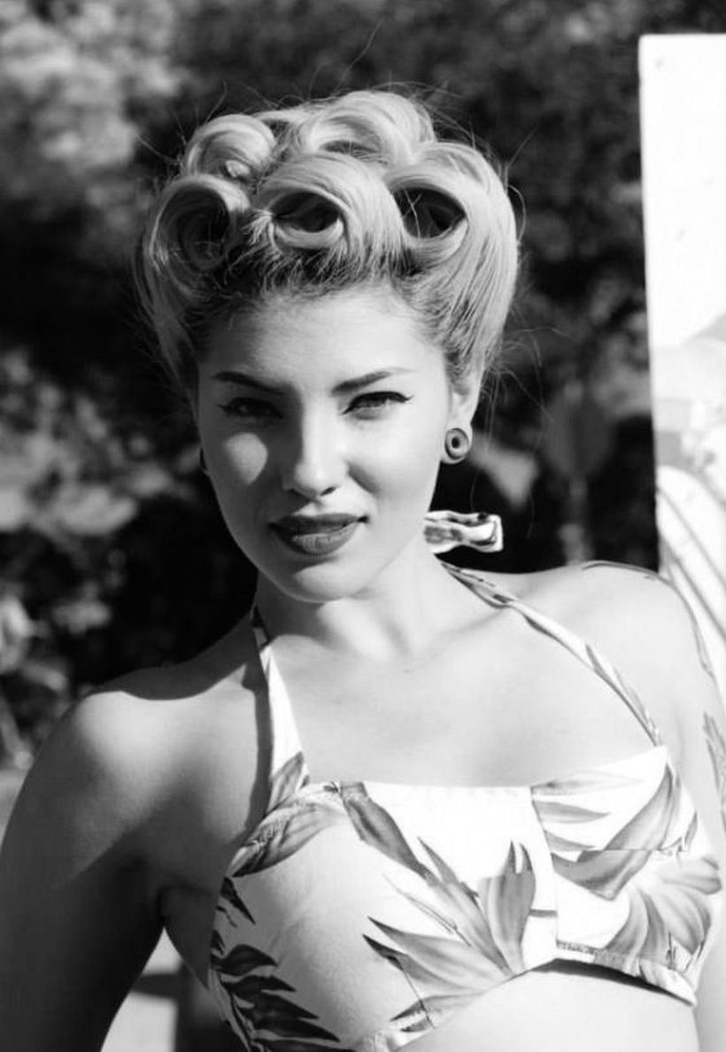 Breathtaking vintage rockabilly hairstyle ideas 77