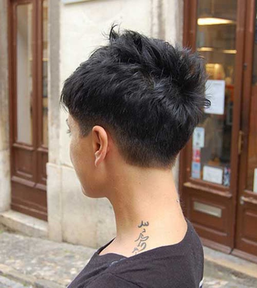 Cool back view undercut pixie haircut hairstyle ideas 20