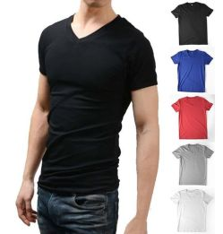 Cool casual men plain t shirt outfits ideas 12