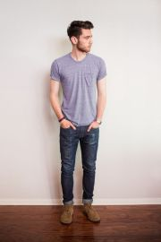 Cool casual men plain t shirt outfits ideas 30
