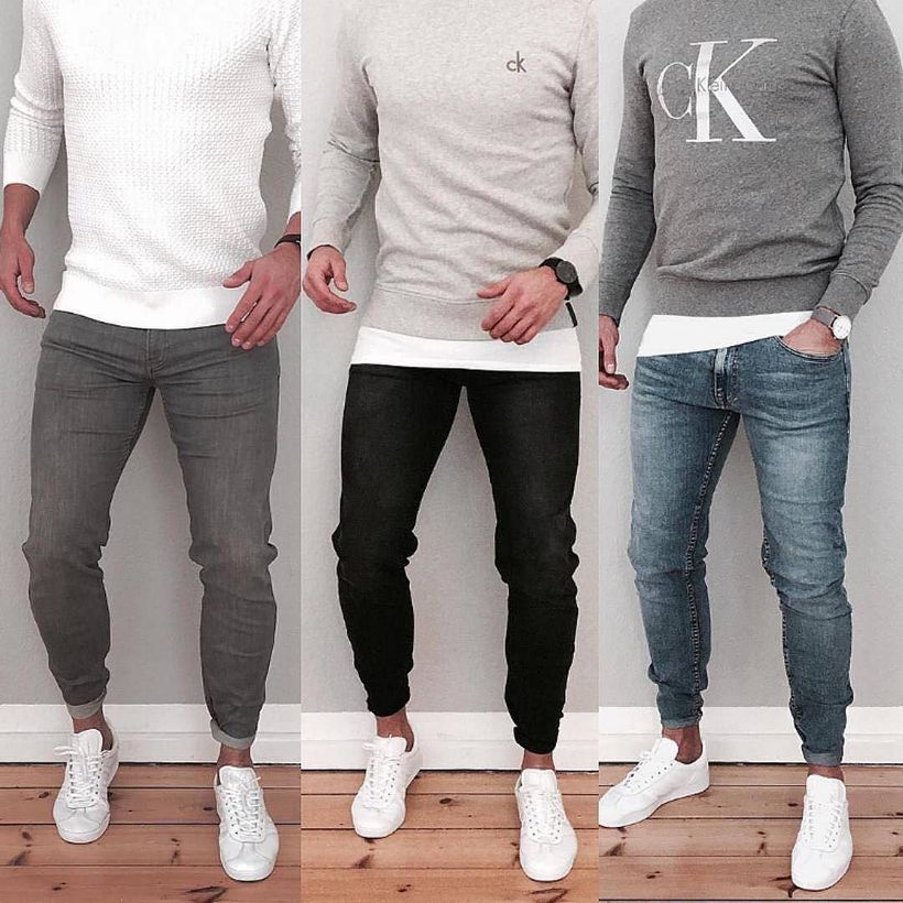 Cool men sweater outfits ideas 39