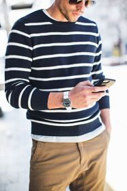 Cool men sweater outfits ideas 6