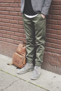 Cool mens joggers outfit ideas 11