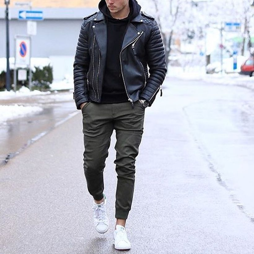 Cool mens joggers outfit ideas 20