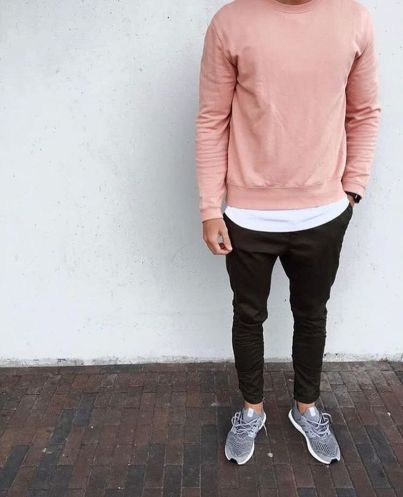 Cool mens joggers outfit ideas 4
