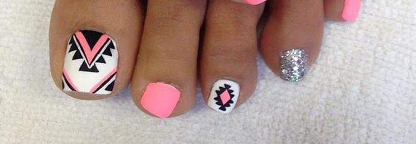 Cool Summer Pedicure Nail Art Ideas Featured