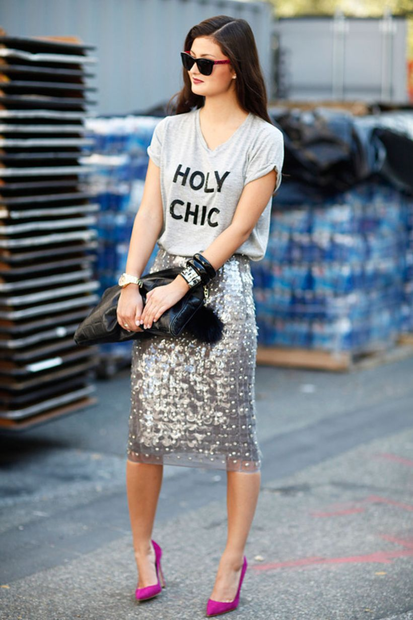 Cool tshirt and skirt for everyday outfits 25