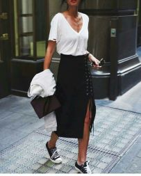 Cool tshirt and skirt for everyday outfits 48
