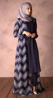 Elegant muslim outift ideas for eid mubarak 17