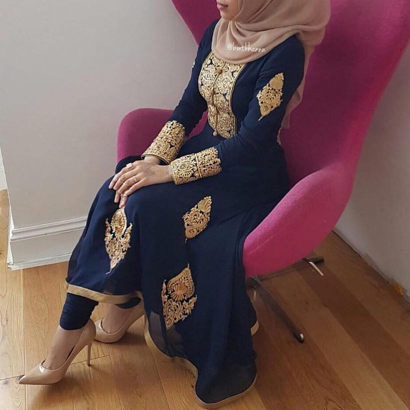 Elegant muslim outift ideas for eid mubarak 34