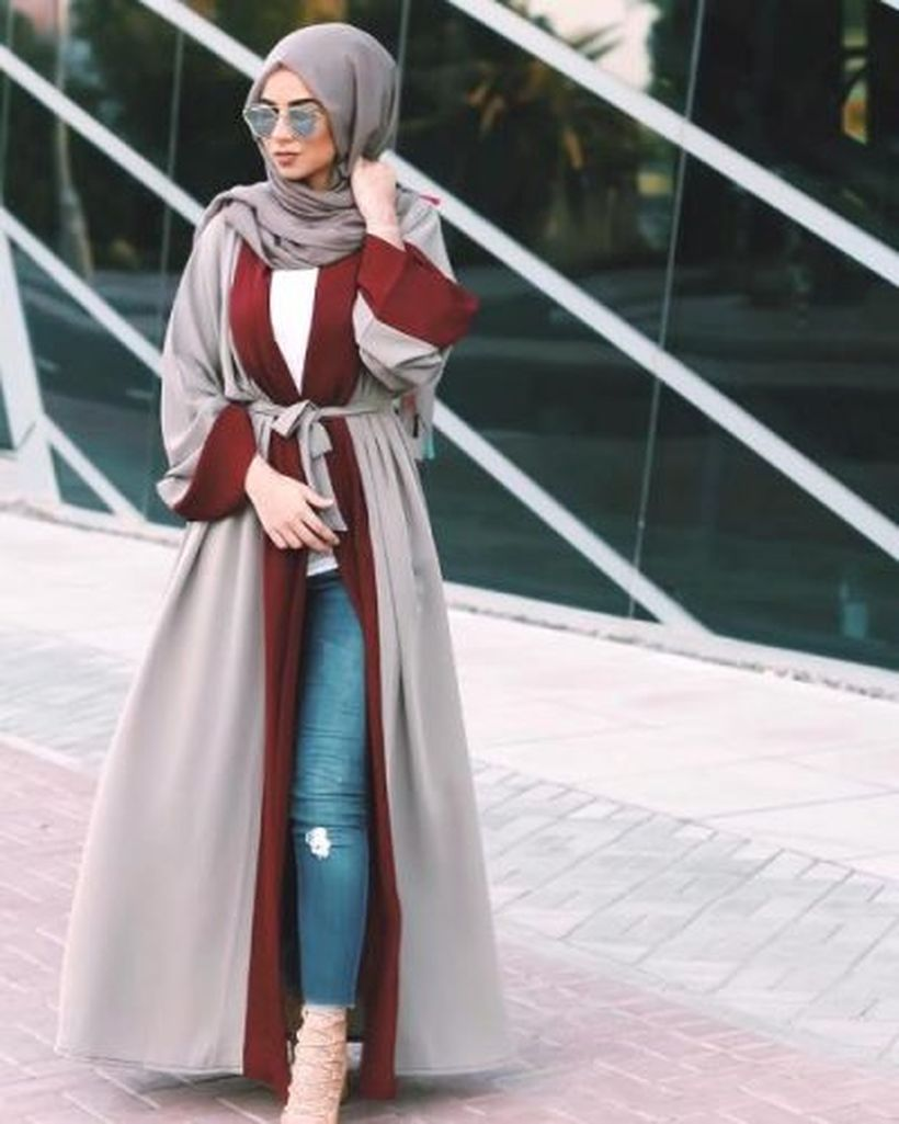 Elegant muslim outift ideas for eid mubarak 39
