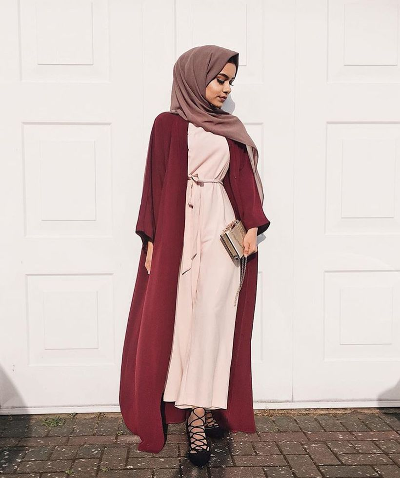 Elegant muslim outift ideas for eid mubarak 53