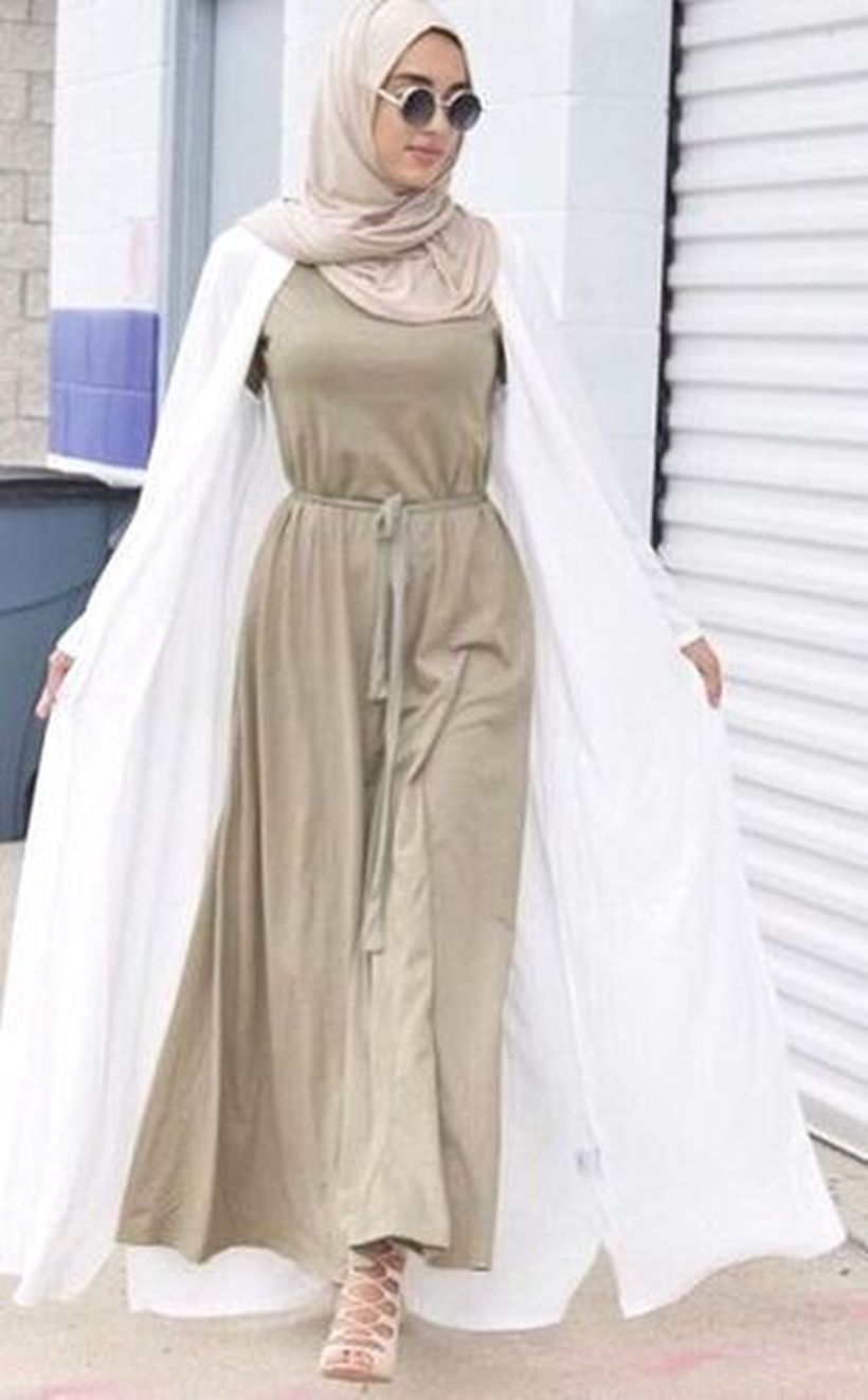Elegant muslim outift ideas for eid mubarak 63