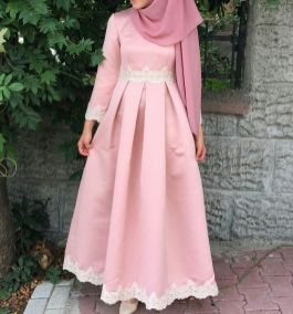 Elegant muslim outift ideas for eid mubarak 66