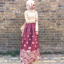 Elegant muslim outift ideas for eid mubarak 71
