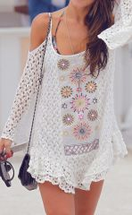 Fabulous boho open shoulder outfits ideas 4