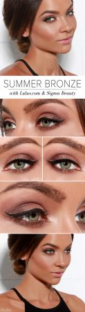 Fabulous look natural green eyes makeup 11