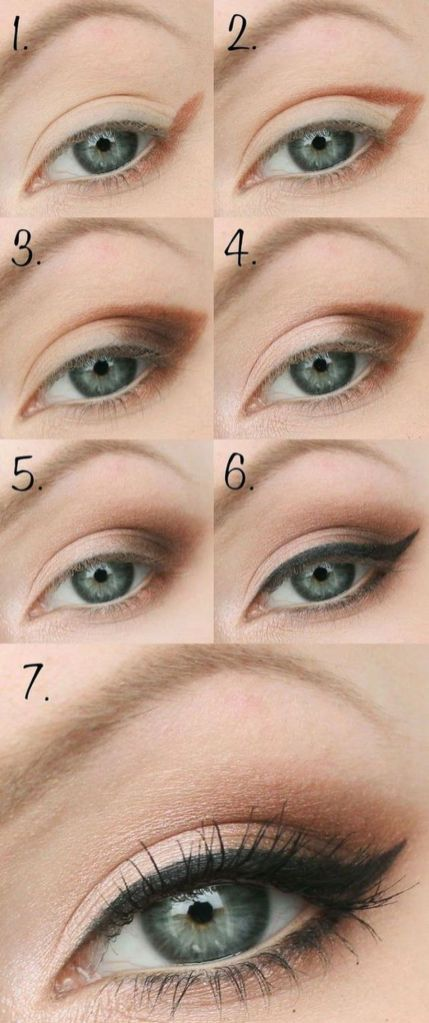 Fabulous look natural green eyes makeup 12