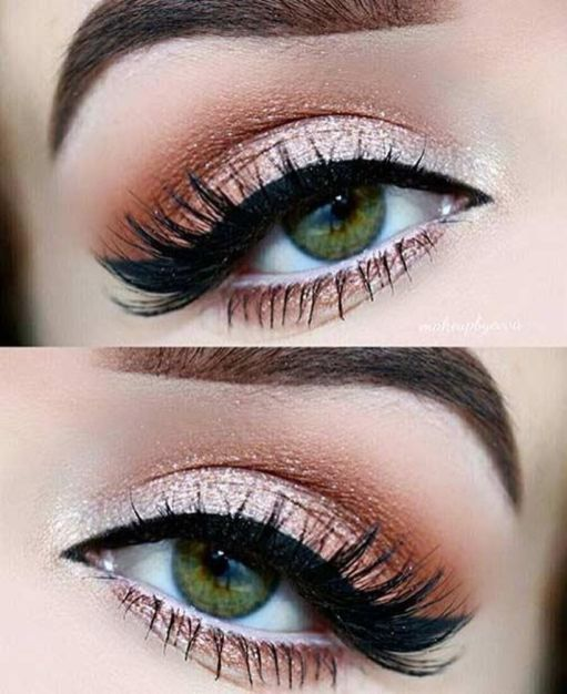 Fabulous look natural green eyes makeup 20