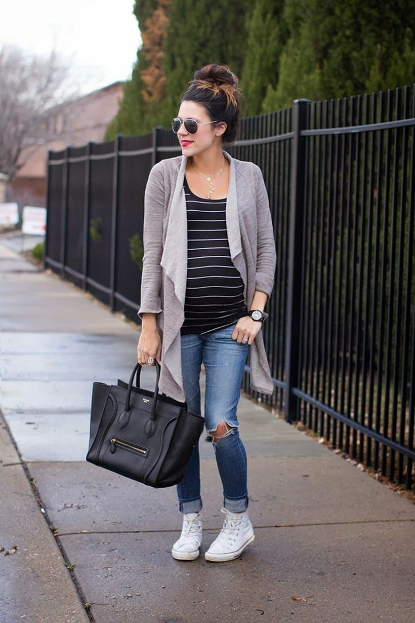 Fashionable maternity fashions outfits ideas 100