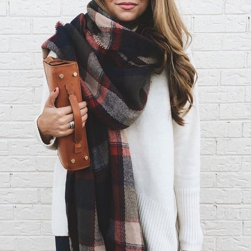 Fashionable scraves accessories ideas for cold weather 14