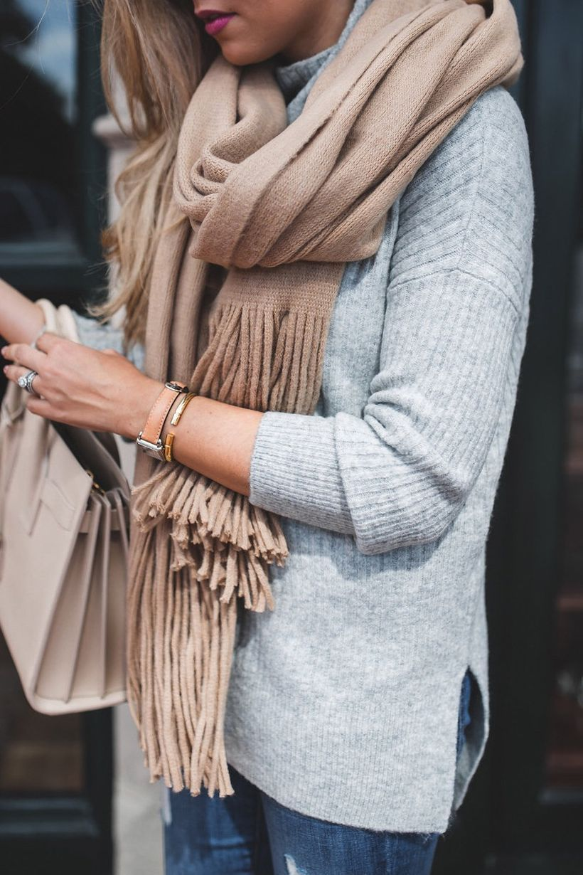 Fashionable scraves accessories ideas for cold weather 24