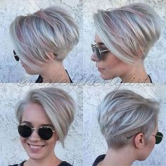 Funky short pixie haircut with long bangs ideas 12