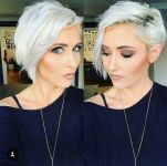 Funky short pixie haircut with long bangs ideas 18
