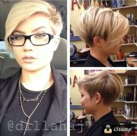 Funky short pixie haircut with long bangs ideas 25