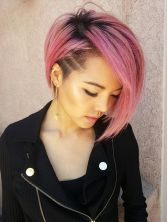 Funky short pixie haircut with long bangs ideas 31