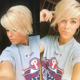 Funky short pixie haircut with long bangs ideas 34