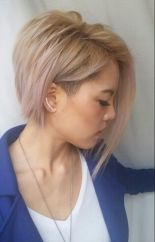 Funky short pixie haircut with long bangs ideas 59