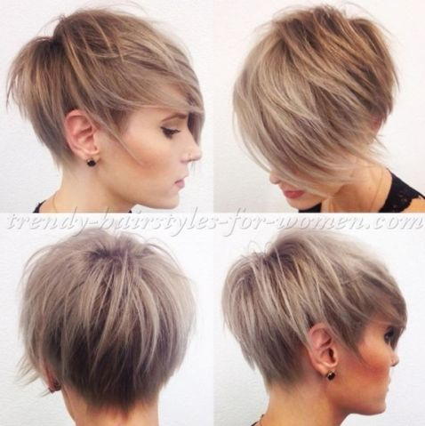 Funky short pixie haircut with long bangs ideas 68