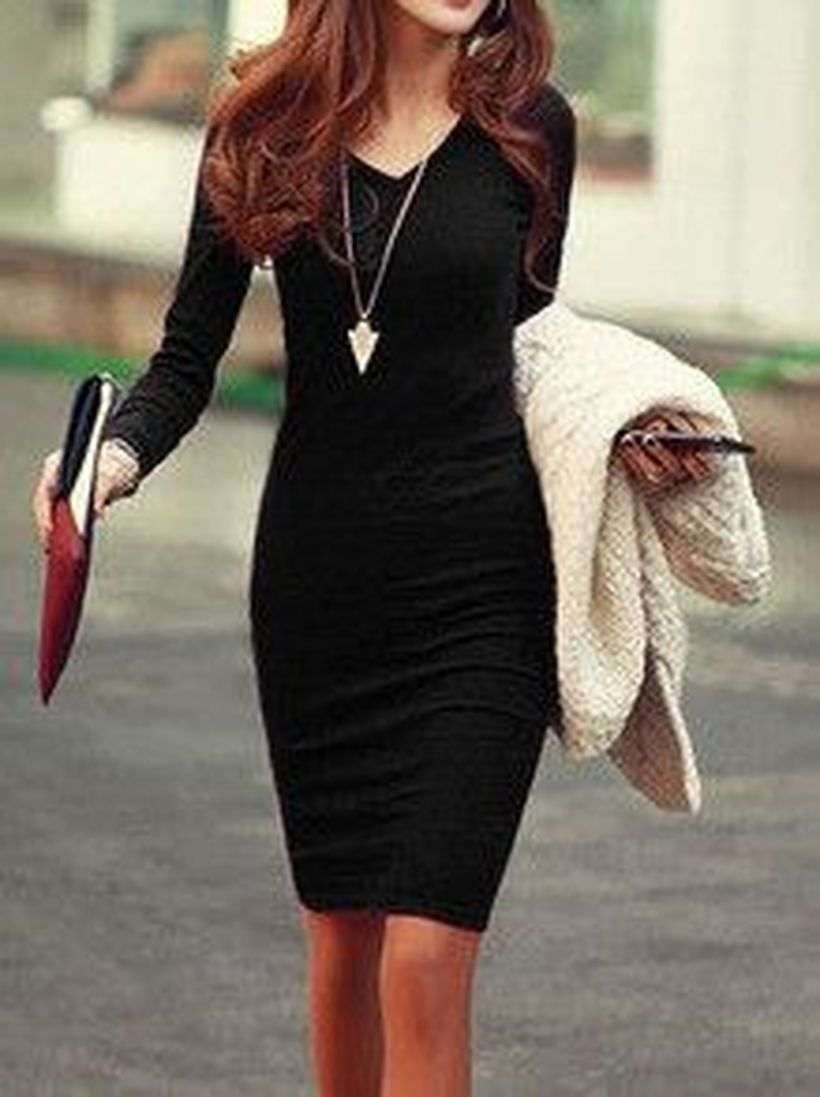 Gorgeous elegance black dress outfits 10