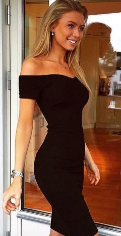 Gorgeous elegance black dress outfits 18
