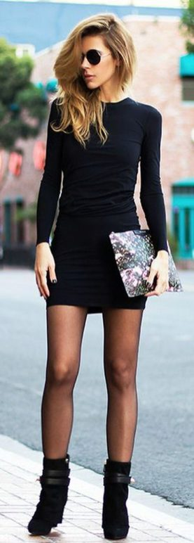 Gorgeous elegance black dress outfits 25