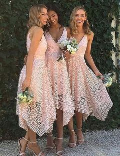 Gorgeous short bridesmaid dresses design ideas 15