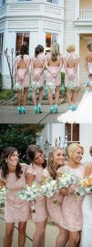 Gorgeous short bridesmaid dresses design ideas 37