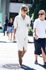 Gorgeous white shirtdresses for summer and spring outfits 15