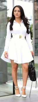 Gorgeous white shirtdresses for summer and spring outfits 19