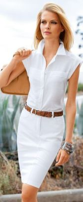 Gorgeous white shirtdresses for summer and spring outfits 33