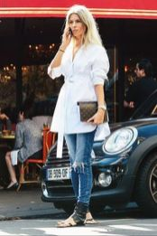 Gorgeous white shirtdresses for summer and spring outfits 40