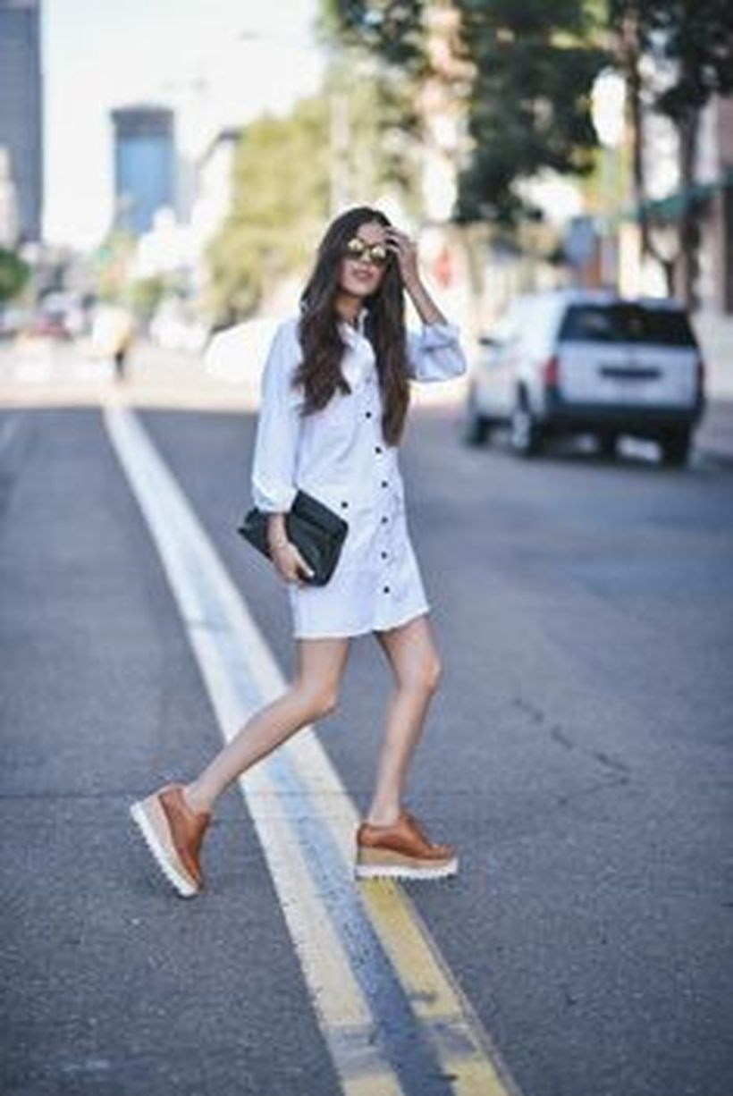 Gorgeous white shirtdresses for summer and spring outfits 51