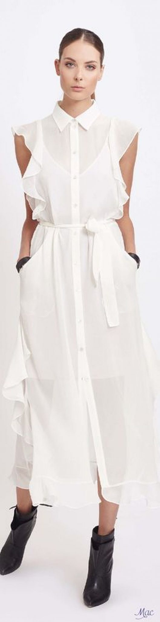 Gorgeous white shirtdresses for summer and spring outfits 59