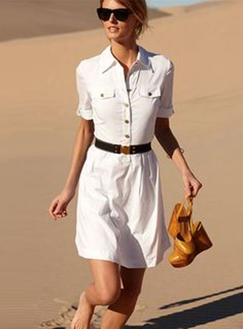 Gorgeous white shirtdresses for summer and spring outfits 61